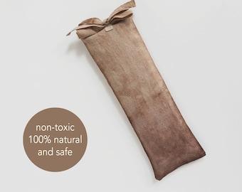 Organic eye bag, Linen eye pillow, Yoga meditation prop, Organic flax seeds, Lavender, Zero waste gift, Spa pillow, Scented, Body care