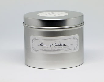 handcrafted candle has the soy wax without GMO amber water scent