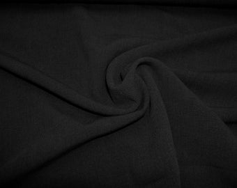 crepe fabric uni black 0.54yd (0,5m) 002540