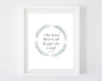 I Have Learned - Walt Whitman Art Print