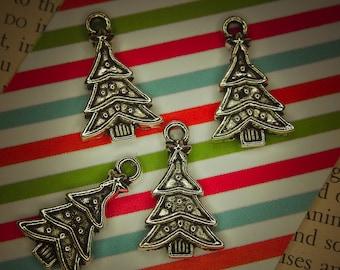 Christmas Tree Pendant Charm #100084 24mm - 4@
