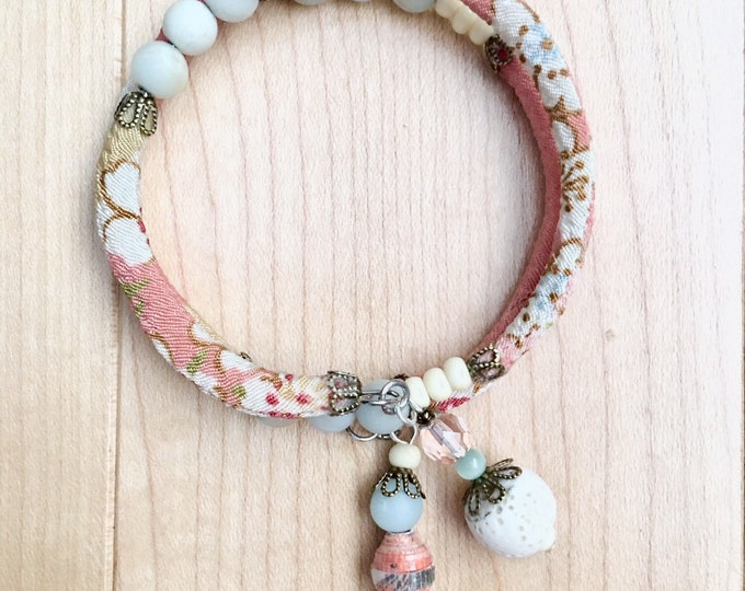 Juliet - wrap around chirimen cord bracelet