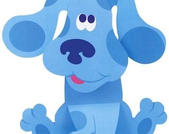 BLUE - Blues Clues - Instant Download - Digital Printable Design - Blue Printable
