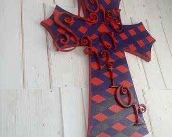 Wooden Cross, Cross Gift For Home, Cross Wall Sign, Wall Cross Art, Religious Decor Art, Cross Sign For gift. Housewarming Cross Gift
