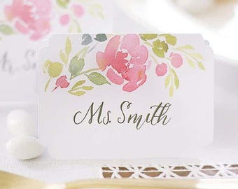 Wedding watercolor floral place cards