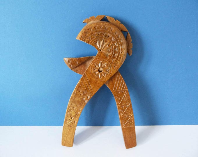Vintage hand carved scandinavian nut crackers.