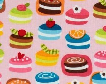Cupcake cake Kaufman pink patchwork fabric