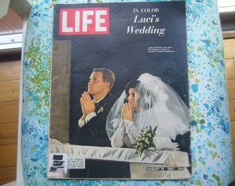 Vintage, Life Magazine August 19, 1966 Edition, Lucy Johnson's and Pat Nugent's Wedding.