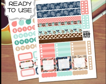 Coffee Bean Sweet Weekly Layout Stickers for MAMBI Happy Planner MINI