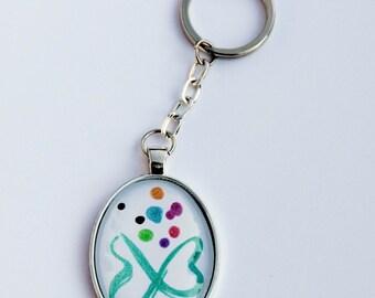 Porte-Clés logo neurodiversité - autisme