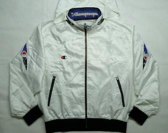 Champion Jacket Script Logo Embroidery Medium Size Light Jacket Windbreaker Winter Jacket Vintage 90' Sweatshirt Hoodie Sweater YbPqnhuonG