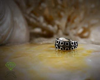 Silver Octopus Tentacle Ear Cuff, Silver Octopus Earring, Boho Style, Ocean jewelry, Unisex Jewelry, Handmade Earring,