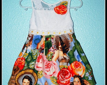 Girls Rockabilly Senorita Pinup Girls Dress  ........Size 4