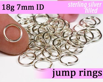 18g 7.0mm ID  silver filled jump rings -- 18g7.00 open jumprings