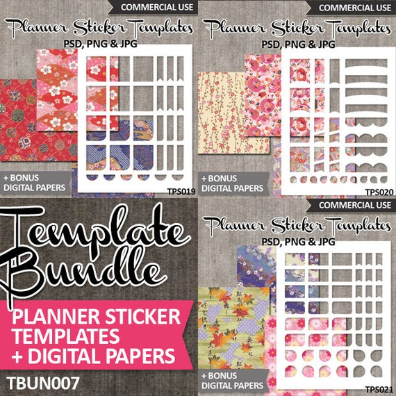 DIY Planner stickers kit sale / Blank templates Bundle, commercial ...