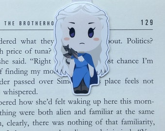 Daenerys - Magnetic bookmark - GoT || book lover gift, khaleesi, bookmark, bookish, bookmarks,  game of thrones, magnetic bookmarks