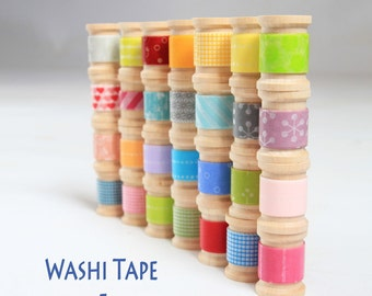 The ULTIMATE 100 ROLL Selection- Washi Tape by The Foot- See photo 2 and 3 for patterns