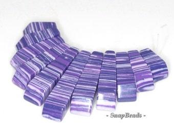 Matrix Turquoise Gemstone Zebra Purple Loose Beads Graduated Set 11 Beads (90114192-108)