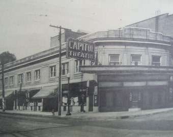Artvue Photo Postcard - Capitol Theatre Waverly NY