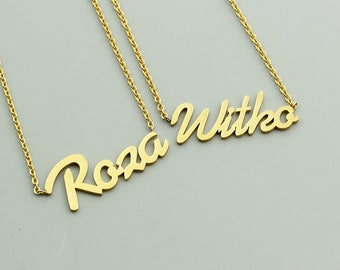 Personalised necklace following your name