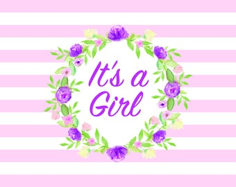 It's a Girl Baby Shower Backdrop