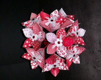 Example 9 origami paper red flowers