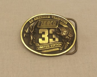 Vintage 1988 Zebco 33rd Limited Edition Belt Buckle by The Great American Buckle Company USA