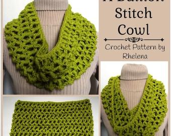 A Bullion Stitch Cowl ~ Crochet Pattern
