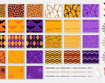 013 HALLOWEEN inspired digital paper pack for scrapbooking, albums, cards and crafts