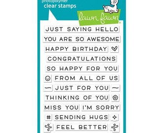 Lawn Fawn - Clear Acrylic Stamps - Simply Sentiments