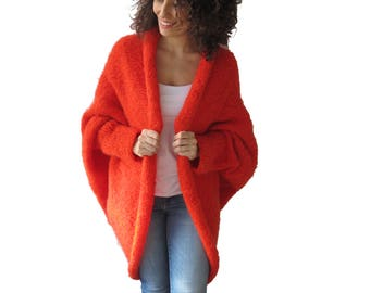 Wool Red Cardigan