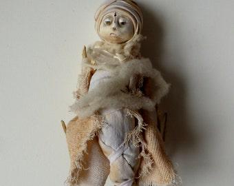 Totem - Le cristal de Rojat - Sculpture papier mache