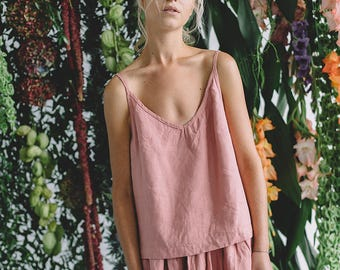 Ready to ship/ Linen top/ Linen blouse/ Linen basic top/ Top/ Linen shirt/ Summer linen clothes/ #18S HAZEL