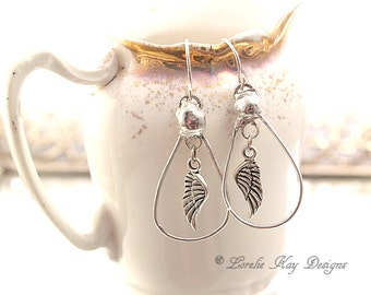 Angel Wing Earring Soldered Free Form Organic Lightweight Boho Beach Jewelry Soldered Earrings