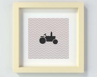 Tractor Nursery Print, Tractor Wall Art, Tractor Farm Decor, Travel Art Prints, Baby Boy Decor, Baby Boy Art Prints, Tractor Theme Nursery
