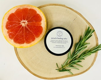 Miracle healing salve + lotion (grapefruit scent)