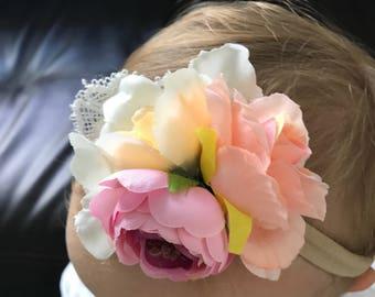 Baby Flower Headband, Flower HeadBand, Soft Headband