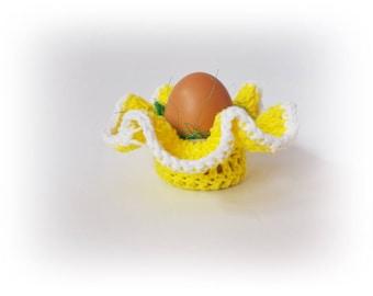 Crochet egg basket Easter decoration Mini Egg Cups Easter Baskets Home Decor Crochet Egg Warmers Ornaments Table Decor