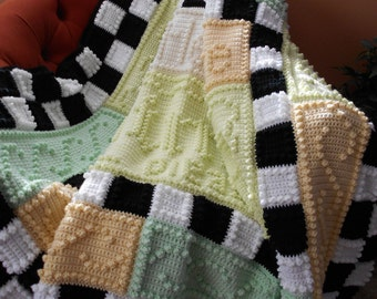 WHIMSY pattern for crocheted blanket
