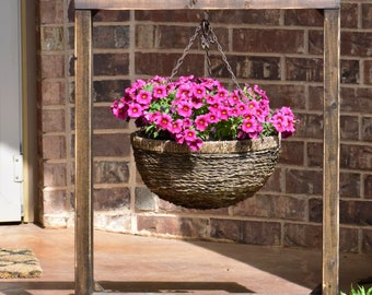Rustic Hanging Plant Stand