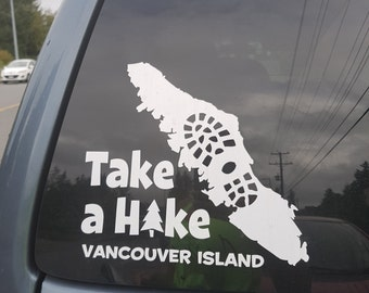 Take a Hike Vancouver Island Sticker