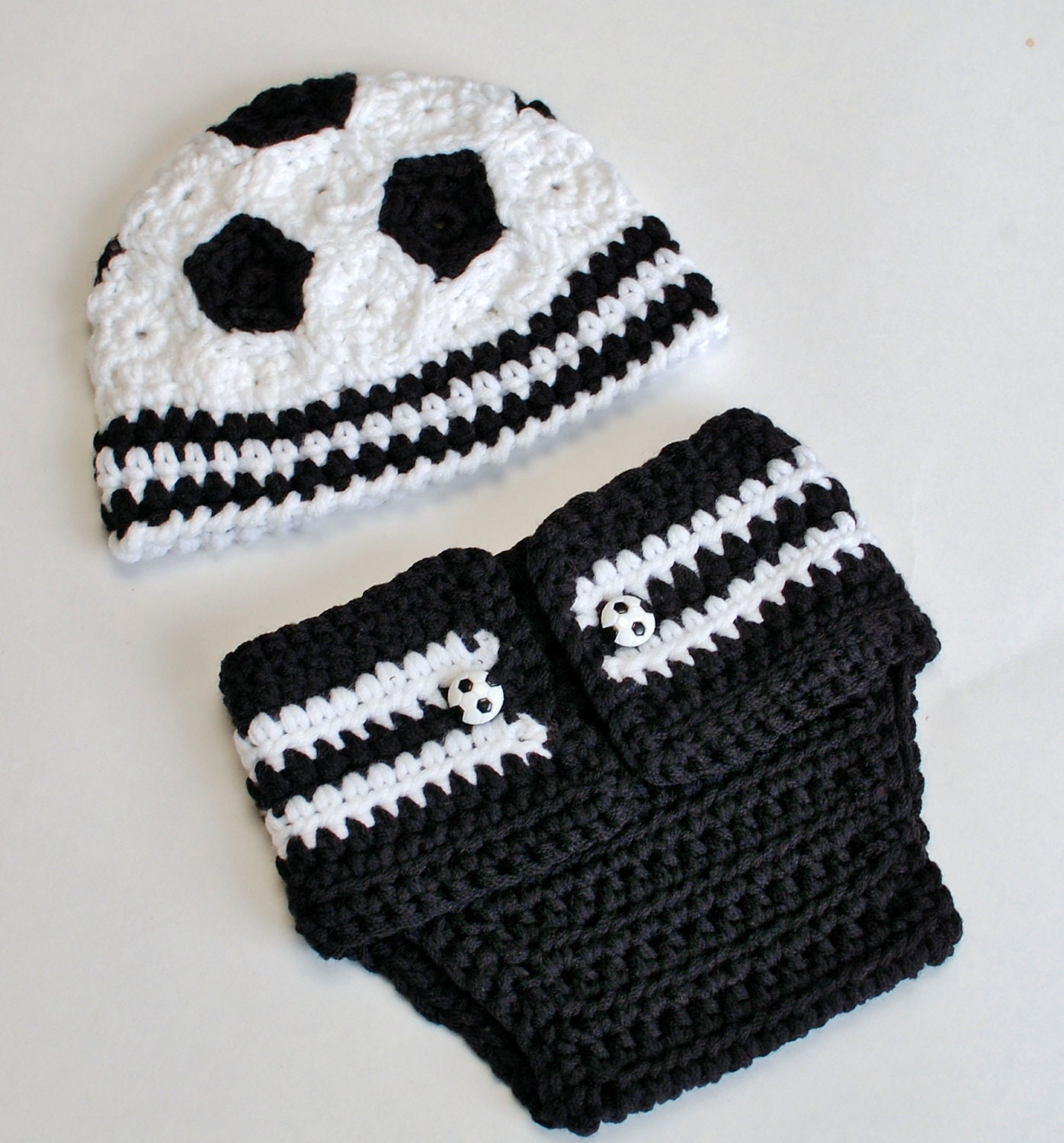 Crochet pattern newborn soccer hat and diaper cover great zoom dt1010fo