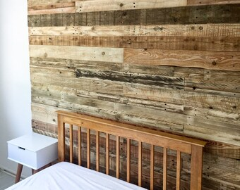 Reclaimed Pallet Wood Wall Cladding -  1 Metre Square Packs