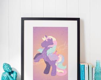 Digital Unicorn Print