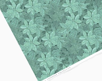Green Botanical Leaf Wrapping Paper
