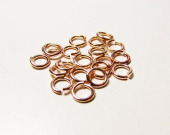 D-03358 - 20 Jump rings rose gold color 6mm