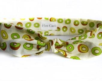 Kiwi Headband - Bow Headband - Bandana - Cotton Headbands