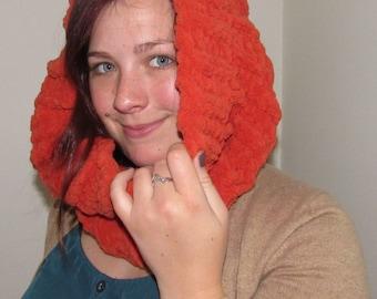 Orange Crocheted Cowl