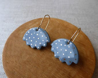 Speckled Jellyfish Hook Earrings Sample SALE