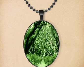 Enchanted Forest Oval Pendant